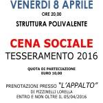 MANIFESTO CENA SOCIALE 2016
