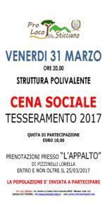 MANIFESTO CENA SOCIALE 2017